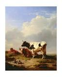 Midday Rest, 1847 Giclée-Druck von Eugene Joseph Verboeckhoven