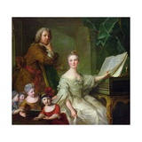 The Artist and His Family, 1730-62 Giclee Print by Jean-Marc Nattier