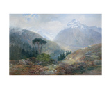 The View Toward the Fenderthal, Tyrol, 1870 Giclee Print by James Vivien de Fleury