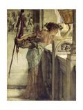 'There He Is!', 1875 Giclee Print by Sir Lawrence Alma-Tadema