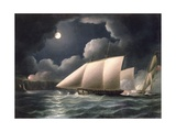 Smugglers and Revenue Cutter Giclee Print by Thomas Buttersworth