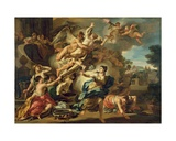 Abduction of Orithyia Giclée-tryk af Francesco Solimena