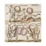 Ms Gen 1496 Plate Cxvi Gladiators, 1674 Giclee Print by Pietro Santi Bartoli