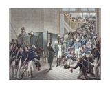 Departure of Louis Xviii (1755-1824) King of France and Navarre, from Les Tuileries, 19th March… Giclee Print by Francois Joseph Heim