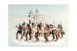Chippewa Snowshoe Dance, C.1835 Giclee Print by George Catlin