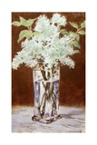 White Lilac in a Crystal Vase, 1882 Giclee Print by Edouard Manet