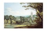 The Church and Castle at Tiverton, Devon Giclée-Druck von John White Abbott