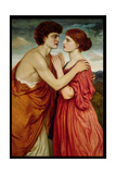 Isaac and Rebecca Giclee Print by Simeon Solomon