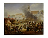 The Battle of Landschut, 21st April 1809 Giclee Print by Louis Hersent