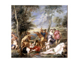 The Andrians, a Free Copy after Titian Giclee Print by Peter Paul Rubens