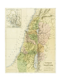 Map of Canaan, or Palestine, Published by A.K Johnstone Giclee Print