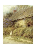 Old Cottage at Freshwater, Isle of Wight Giclee Print by Helen Allingham