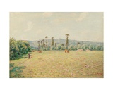 The Hills of La Bouille in Normandy - Morning Giclee Print by Alfred Sisley