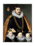 A Pair of Family Portraits, 1598 Giclee Print by Gortzius Geldorp