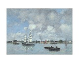 Bordeaux, Boats on the Garonne, 1876 Giclee Print by Eugene Louis Boudin
