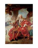Portrait of Samuel Bernard, Comte De Coubert 1726 Giclee Print by Hyacinthe Rigaud