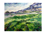 The Green Wheatfield Behind the Asylum, 1889 Giclee Print by Vincent van Gogh