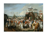 The Reception of the Mysorean Hostage Princes by Lieutenant General Lord Cornwallis (1738-1805)… Giclee Print by Robert Home