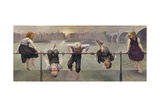 Street Arabs at Play, 1890 Giclee Print by Dorothy, Nee Tennant Stanley
