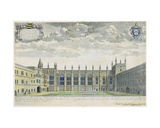 Collegium Novum: Elevated View of New College Front Quad from the South, 1675 Giclee Print by David Loggan