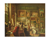 The Artist's Studio, 1833 Giclee Print by Amelie Legrand De Saint-aubin