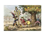 The New Dynasty, or the Little Corsican Gardiner Planting a Royal Pippin Tree, Published by… Giclee Print by James Gillray