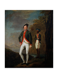 A British Officer of a Madras Sepoy Battalion Attended by a Sepoy Servant, C.1769 Giclee Print by Carl C.A. von Imhoff