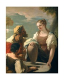 Rebecca at the Well Giclee Print by Giovanni Antonio Pellegrini