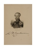 Portrait of General Etienne Cambronne (1770-1842) Giclee Print by Francois Seraphin Delpech