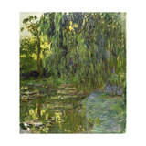Weeping Willows, the Waterlily Pond at Giverny, C.1918 Giclee Print by Claude Monet