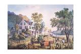 American Farm Scene, 1864 Giclee Print by Frances Flora Bond Palmer