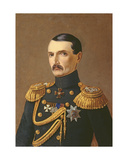 Portrait of Admiral V.A. Kornilov (1806-1854), Hero of Crimea Giclee Print by A.F. Permyakov