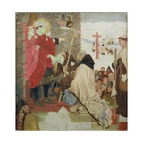 St. Oswald Receiving St. Aidan (St. Oswald Sending Missionaries into Scotland) Giclee Print by Ford Madox Brown