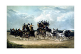 The Brighton Day Mails Passing over Hockward Common, Engraved by Charles Hunt, 1838 Giclee Print by William Joseph Shayer