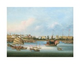 The Hongs at Canton, C.1855 Giclee Print by  You Qua