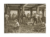 Silver Mining in Nevada, C.1870, from 'American Pictures', Published by the Religious Tract… Giclee Print