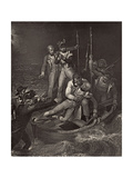 Nelson Wounded at Tenerife in 1787, Illustration from 'The Life of Nelson' by Robert Southey… Giclee Print by Richard Westall