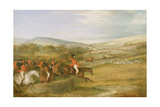 The Berkeley Hunt, Full Cry, 1842 Giclee Print by Francis Calcraft Turner