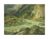 Rapids on the River Isar, 1830 Giclee Print by Carl Morgenstern