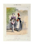 The Nanny, from 'Les Femmes De Paris', 1841-42 Giclee Print by Alfred Andre Geniole