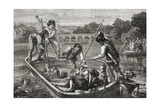 The Drowning in the Loire During the Reign of Terror, 1793 Giclee Print by H. de la Charlerie