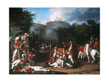 The Death of Colonel Moorehouse at the Storming of the Pettah Gate of Bangalore on 7th March… Giclee Print by Robert Home