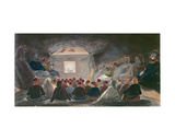 Show with Shadow Puppets in Algeria. C.1835 Giclee Print by Theodore Leblanc