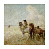 The Bison Hunters Giclee Print by Nathaniel Hughes John Baird