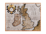 Map of the British Isles, from 'Atlas Sive Cosmographicae Meditationes De Fabrica Mundi Et… Giclee Print by Gerardus Mercator