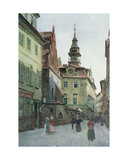 The Jewish Town Hall, Prague, Illustration from 'stara Praha', C.1898 Giclee Print by Vaclav Jansa