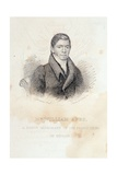 Portrait of William Apes, Engraved by Illman and Pilbrow Giclee Print by John Paradise