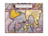 Map of Asia with a Superimposed Map of Europe, from 'Theatrum Orbis Terrarum', 1603 Giclee Print by Abraham Ortelius