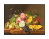 Still Life with Flowers and Fruit, 1821 Giclee Print by Franz Xavier Petter