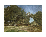 Landscape with a Path Leading to the Etang a La Dame Giclee Print by Constant-emile Troyon